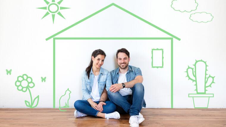 マイホームを建てる予定の夫婦