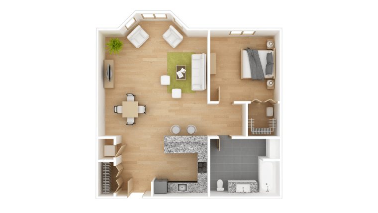 家の間取りの模型図