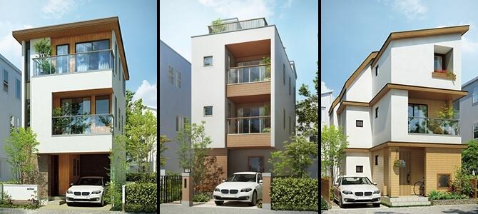 三井ホームの3階建て