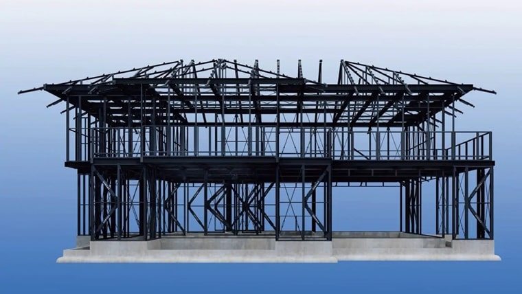 積水ハウスの鉄骨「ダイナミックフレームシステム」